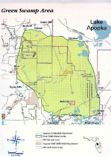 Lake City Florida Map.Gateway To The Green Swamp My Polk City